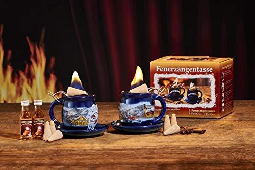 "Feuerzangentasse 2er-Set blau""Winter"" - premium"
