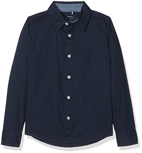 Name It Nitsolid Ls Shirt Nmt, Camicia Bambino, Blu (Dress Blues), 128 (Taglia Produttore: 122-128)