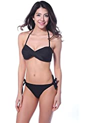 Winkee 20151 rueckenfrei Twist Bandeau Bikini set Neckholder
