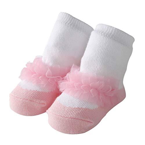 Mitlfuny Unisex Babyschuhe Mädchen Jungen Anti-Slip Socken Slipper Stiefel,Schöne Baby Mädchen Socken Jacquard Ballett Socken niedliche Prinzessin Bow Baby Socken - Schöne Ballett-mädchen