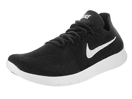 Nike Free Run Flyknit 2017, Scarpe Running Uomo Black/White Black