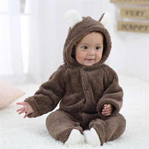 Formulaone Neugeborenes Baby-Karikatur-Netter Tier Geformter Spielanzug mit Kapuze langärmelige Overalls Single Breasted Winter-Freizeit-Kleidung