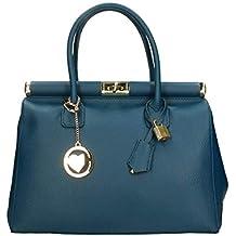 55b331140e8a3f Chicca Borse Bag Borsa a Mano in Pelle Made in Italy 35x28x16 cm