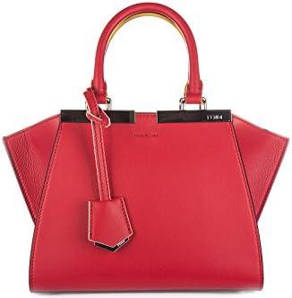 Fendi bolso de mano para compras en piel mujer nuevo mini 3jours rojo