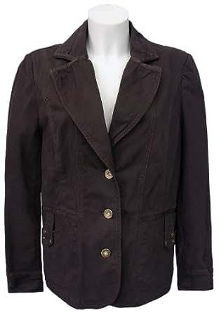 steilmann blazer braun dunkel damen jacke gr 42 bekleidung. Black Bedroom Furniture Sets. Home Design Ideas