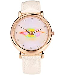 Wkae Watches Women Casual Quartz Watch Lip Cartoon Watches Girl Ladies Luxury Gold Watch Wristwatches ( Color : 1-W-650 )