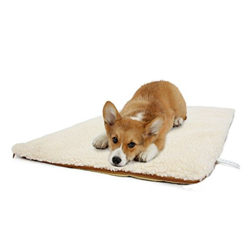 Hundebett Fuzzy Kissen Decke Pet Pad Zwinger Outdoor Portable Removable Wash Large (Color : Beige, Size : S)