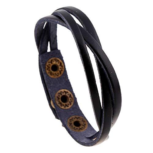 Armband Armreif,Schmuck Geschenk,Men Bracelet Classic Leather Bracelet Men Vintage Charm Genuine Clasp Bracelet for Men Jewelry Gift (Glow Armbänder Bulk)