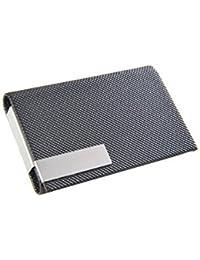 Monumentum: Tarjetero / Estuche para tarjetas de visita hecho de cuero con cierre magnético, negro, BY-M507 DE