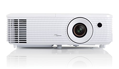 Optoma HD27 Full HD 1080p DLP Projector (Full Lights on Viewing 3200 ANSI Lumens, x2 HDMI with MHL Support and Built-In 10 W Speaker) - White
