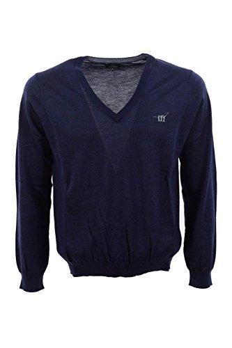 Maglione Uomo Henry Cotton's S Blu 91446 01 97848 Autunno Inverno 2015/16