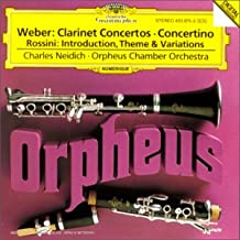 Concertos & concertino pour clarinette / Introduction, thème & variations