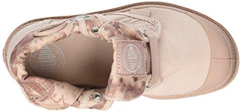 Palladium Baggy Low Zip Lp, Sneakers Basses Mixte Enfant Rose (Rose Dust/marshmallow/floral Print)