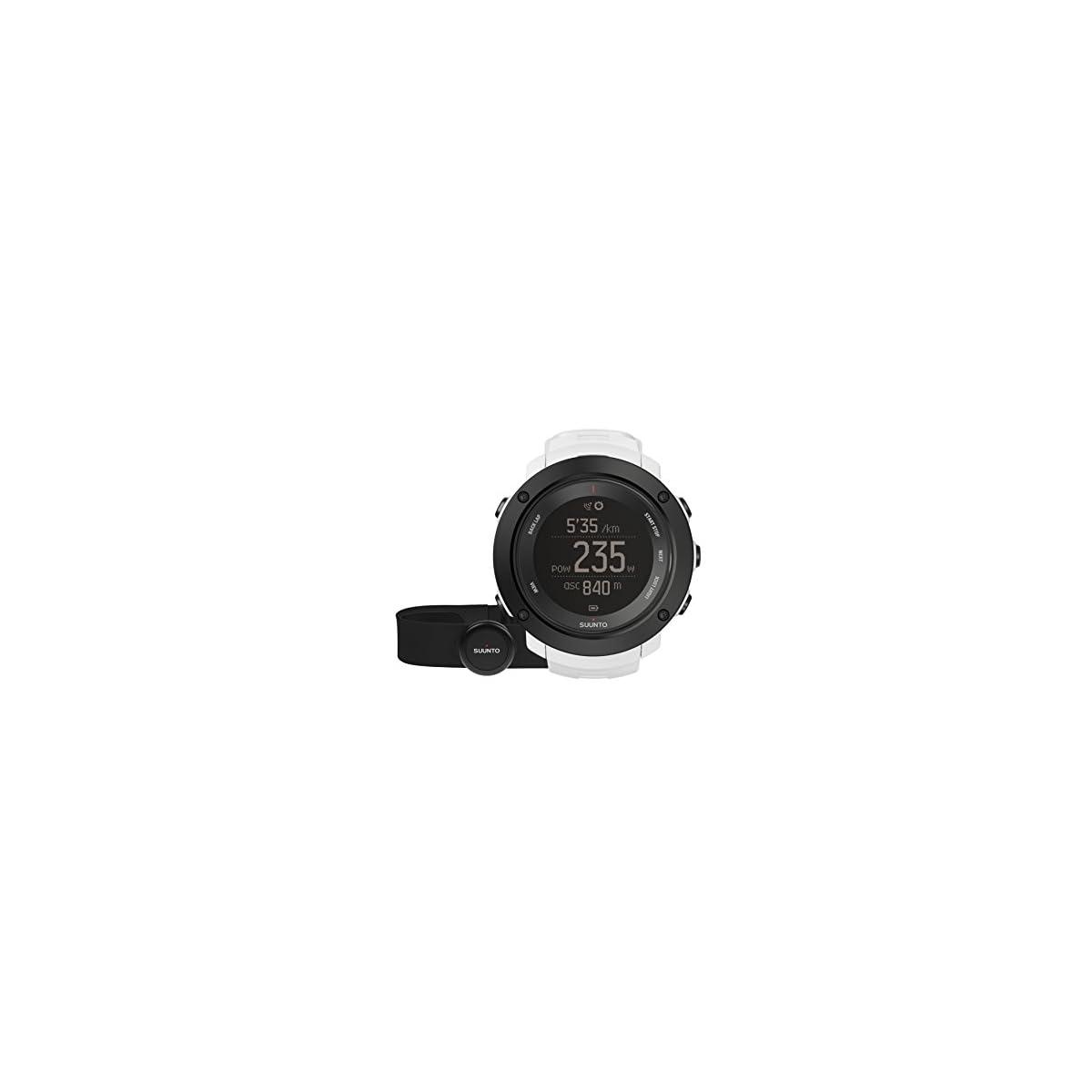 41FFKMnsnIL. SS1200  - Suunto - Ambit3 Vertical HR - SS021966000 - Reloj GPS Multideporte + Cinturón de frecuencia cardiaca (Talla M) - Ideal para montaña - Blanco