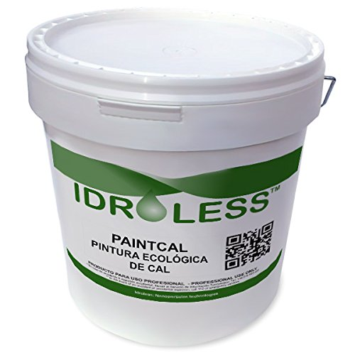 Paintcal: Pintura de Cal Ecológica Impermeable Idroless - 5 kg, Interiores, Blanco