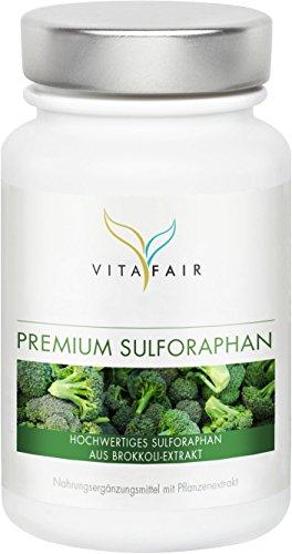 Sulforaphan 45mg | Hochdosiert aus 450mg Brokkoli-Extrakt | 100 Kapseln | Vegan | Ohne Magnesiumstearat | Made in Germany