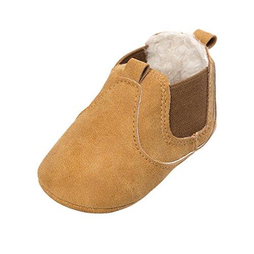 ESTAMICO Baby Jungen Mädchen Freizeit Winter Sneakers Warm Schuhe Gelb 6-12 Monate