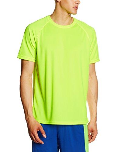 Fruit of the Loom T-Shirt Uomo Yellow (Bright Yellow)