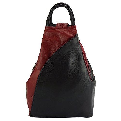 Rucksäcke  ANTONELLA  aus Kalbsleder- 2065 Schwarz-Rot