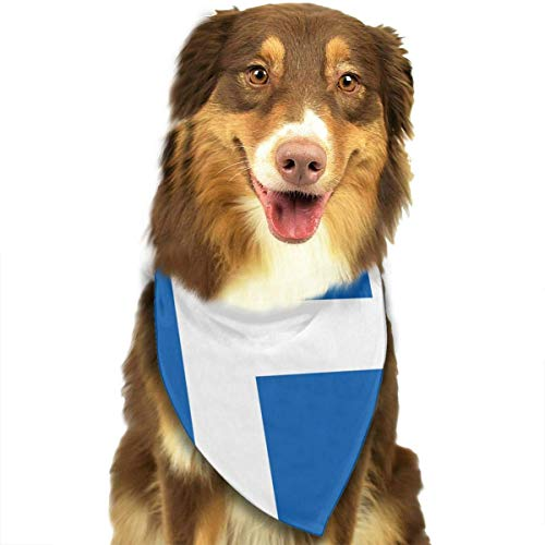 Sdltkhy Greeks Flag Pet Scarf Dog Bandana Bibs Triangle Head Scarfs -