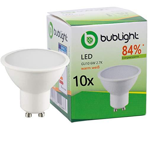 10x Bublight LED-Leuchte GU10 6W, ersetzt 39W Gl