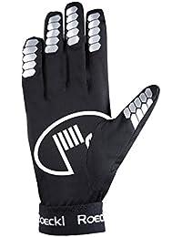 Roeckl Malvas guantes de moto overglove dedo largo negro, handschuhgröße:7 1/2