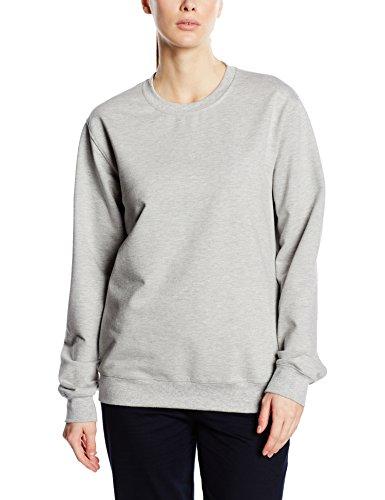 Trigema - Sweat-Shirt Femme Gris - Grau (hellgrau-melange 110)