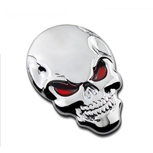 WINOMO plata calavera Metal adhesivo auto Logo insignia emblema...