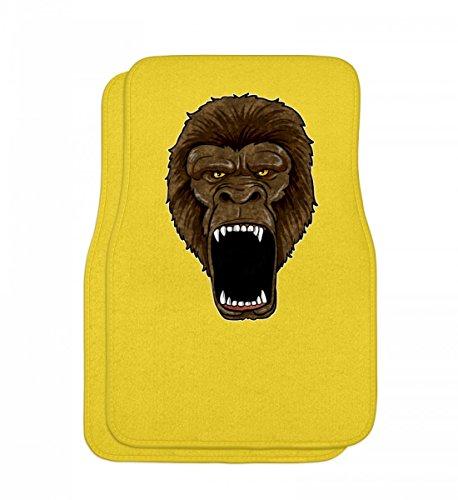 Hochwertige Automatten - Gorilla On Rampage - Affe Primat Zoo Alphatier Wut Safari Zootier Silberrücken Krafttier (Gelbe Gorilla Kostüm)