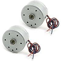 Mini Motor - TOOGOO(R) 2pzs RC300 6000RPM DC 1.5-9V Motor micro para Reproductor de DVD CD