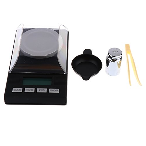 new concept cd614 83cae F Fityle Digital Milligram Pocket Scale 50g   0.001g Pro Jewelry Lab Carat  Powder Scale