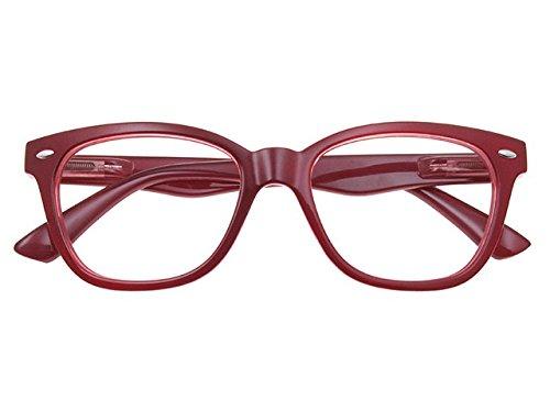 Goodlookers Reading Glasses 'Josey' Burgundy +1.0, 1.5, 2.0, 2.5, 3.0, 3.5 (+1.50)