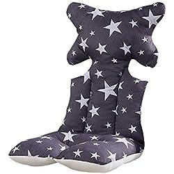 Waroomss Coussin de siège de coussin de poussette de bébé, étoile d'oreiller de soutien de tête et de corps maille d'air respirable 3D respirable de coton chaud