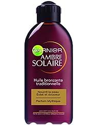 Garnier - Ambre Solaire - Huile solaire bronzante  traditionnelle Parfum Mythique
