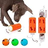 Edupet 06020AC Hundespielzeug, Dog'n'Roll, Intelligenzspielzeug für Hunde, Leckerli-Spender, 17,5 cm, orange