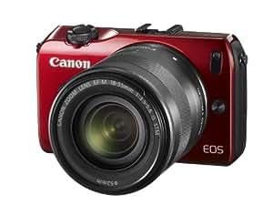 Canon EOS M kompakte Systemkamera (18 Megapixel, 7,6 cm (3 Zoll) Display, Full HD, Touch-Display) Kit inkl. EF-M 18-55mm 1:3,5-5,6 IS STM und Speedlite 90EX rot