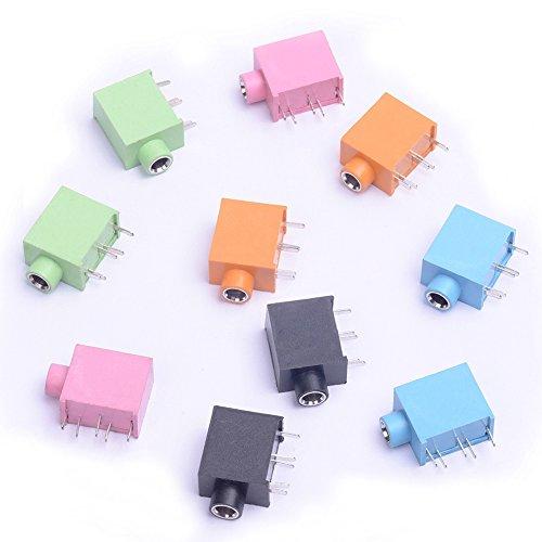 Cylewet 1003,5mm Stereo Buchse Audio-Buchse Kopfhörer Jack 5Pins PCB Panel Mount Stecker für Arduino (10Stück) clw1032 Av-pin Jack
