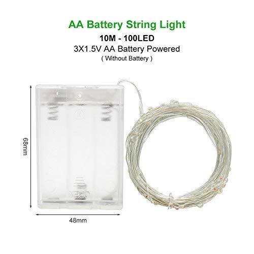 WSYYWD Cadena luces LED guirnalda cobre alambre plata