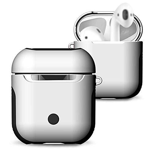 Battery Charging Pod (Lenture Kabelloses Ladecase Ersatz for Drahtlose Kopfhörer, Wireless Charging Case Ladestation, Eingebautes Akku Ladegerät, Qi-Standard Adapter Schutzhülle, 5-fache Aufladung, Kopfhörer Zubehör (Weiß))