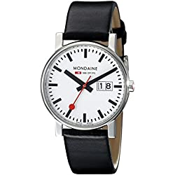 Mondaine Herren-Armbanduhr SBB Evo Big Date 35mm Analog Quarz A669.30300.11SBB