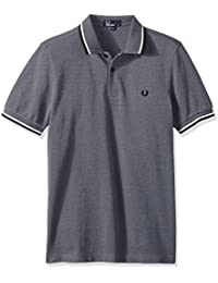 Fred Perry Twin Tipped Fred Perry Shirt Dark Carbon, Polo