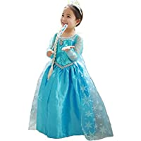 Freefly Kids Girls Frozen Princess Dress Cosplay Christmas Party Costume Fancy Outfit