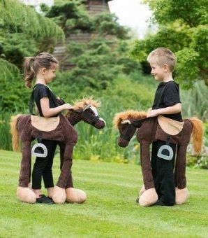 Ponys Pferde Und Kostüm Für - Generique - Pony Carry Me Kostüm für Kinder braun Einheitsgröße