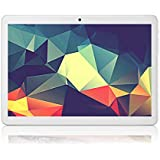 Tablet 10 Inch Android 7.0 Octa Core Tablet with 4GB RAM 64GB ROM Tablet PC Built in WiFi and Camera GPS Two Sim Card Slots Unlocked 3G Phone Call Phablet(Blanco)