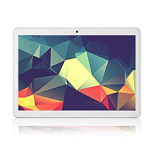 Tablet 10 Inch Android 7.0 Procesador de Cuatro Núcleos Tablet with 4GB RAM 64GB ROM Tablet PC Built in WiFi and Camera GPS Two Sim Card Slots Unlocked 3G Phone Call Phablet(Blanco)