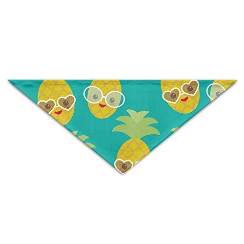 Gorgeous Socks Nette Nette Kawaii Frucht-Ananas mit Sonnenbrille-Polyester-Faser-Haustier-Schal-Zusätzen 100% justierbar für alle sortierten Hundekatzen-Haustiere