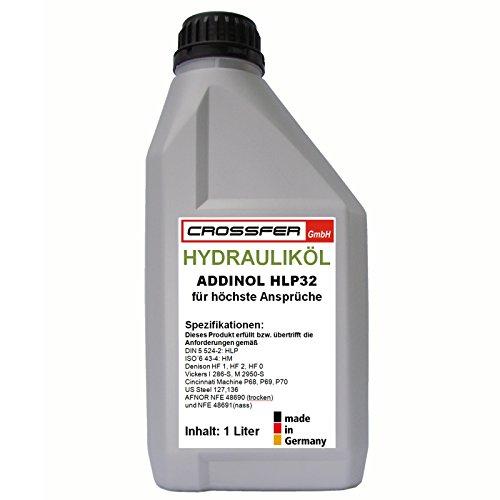 1 Liter Flasche ADDINOL HLP32 Hydrauliköl für Hydraulikpressen, Holzspalter usw. entspricht der DIN 51524-2 und DIN EN ISO 6743-4
