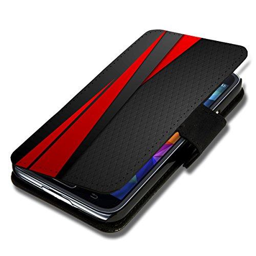 Book Style Flip Handy Tasche Case Schutz Hülle Schale Motiv Foto Etui für Samsung Galaxy ACE 4 - X3 Design8