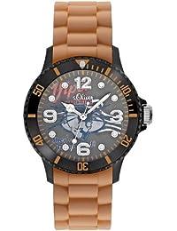 s.Oliver Jungen-Armbanduhr Silikon braun SO-2227-PQ