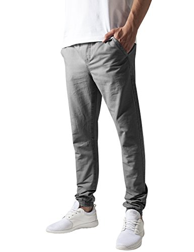 Urban Classics TB1434 Herren Hose Washed Canvas Jogging Pants Grau (Grey 111), W34/L32 (Herstellergröße: L)